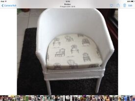 Vintage Bedroom Chair and Matching Ottoman