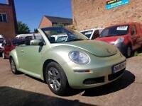 2006 56 Volkswagen Beetle Luna Convertible 1.6 - Low Mileage, 3 Month Warranty