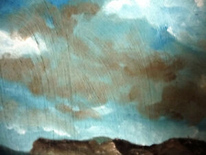 "Original Oil Painting by Graham ""Landscape Under A Cloudy Sky"" Stratford Kitchener Area image 8"