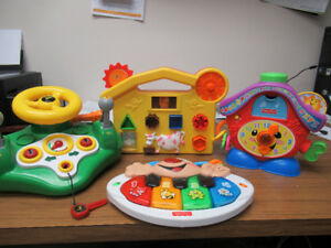 John Deere Busy Driver, Fisher Price Clock, Clock, Puzzle toy