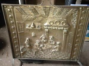 Brass Fireplace screen and utensils
