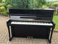 Modern black Elysian upright piano free delivery