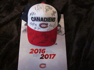 Montreal Canadiens hockey hat with signatures