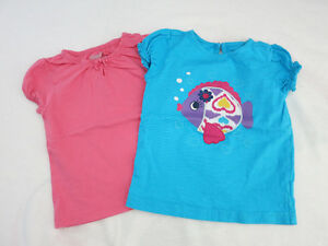 Pink Bow & Fish T-Shirts (Girl, 3 & 4 T)