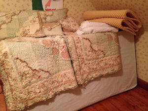 TWO- Twin / Single bed frame, box spring and mattress