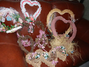 VARIETY OF HEART SHAPED WREATHS
