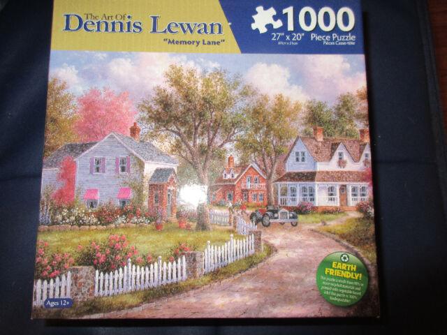1000 Piece puzzle - Memory Lane by artist Dennis Lewan.