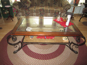 Ornate coffee table & end table
