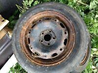 185/60R14 steel rims/tyres