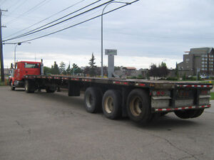 Flat deck trailer for sale!