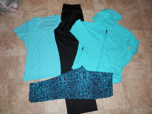 Lots of active wear clothing (size L/XL)