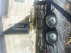 5x10 tandem axle trailer sell or trade