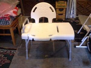 extended bath chair $40. single bath chair $30.