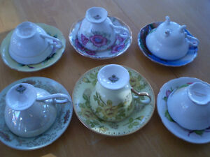 CUP AND SAUCERS ROYAL ALBERT, ADDERLY, HAND PAINTED Windsor Region Ontario image 4