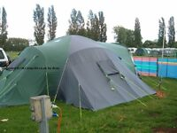 Sunncamp Tourist Plus 12XP sleeps 12 + hugh tent with integral ground sheet. good for big family