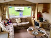 Cheap 3 bed caravan for sale on 12 month pet friendly park in northumberland