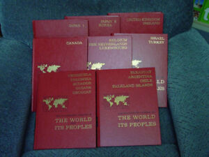 SET OF 8 BOOKS THE WORLD AND ITS PEOPLE
