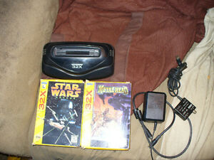 rear sega 32 x with 3  games and working
