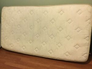 free delivery- 2yr old single mattress boxspring