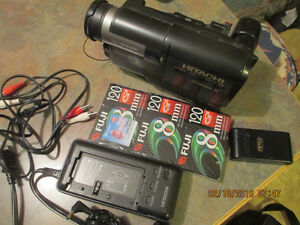 Hitachi VM-230A 8mm camcorder bundle with cassettes and more