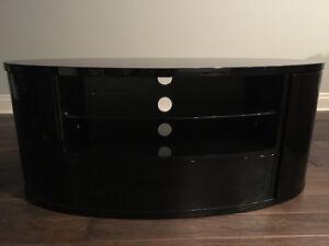Black oval tv unit