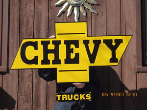 VERY LARGE CHEVY SIGN.