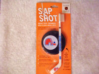 Quebec Nordiques toothbrush and puck holder