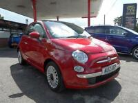 12 (12) FIAT 500 1.2 LOUNGE 3DR (START/STOP) ONLY 18,600 MILES, £30 ROAD TAX