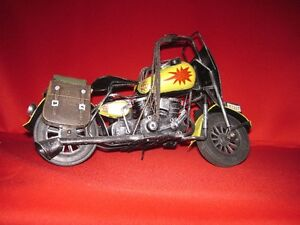 Harley Davidson V twin vintage replica metal model motorcycle