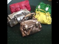 Collection of leather hand bags