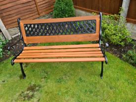 Restored Cast Iron and Wood Garden Bench
