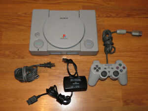 Playstation System PS1 Console with Controller and Cords Works