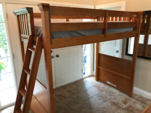 Loft Bed, Solid Maple
