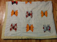 Hand Made Butterfly Quilt
