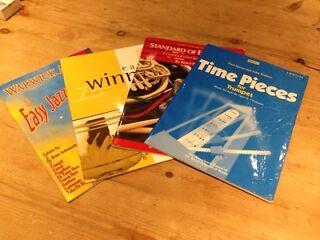 4 beginners trumpet music books
