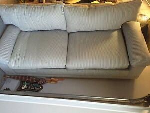 Blue and white striped Sofa and matching armchair - NEW PRICE! West Island Greater Montréal image 1