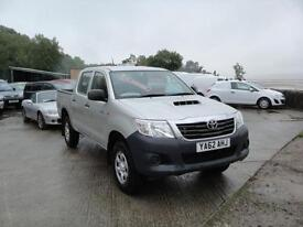 2013 Toyota Hilux 2.5 D-4D 4WD HL2 Double Cab. Only 13,000 miles. 1 owner.