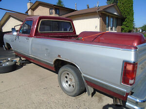 MUST SELL  1986 Dodge 150 Ram with matching topper
