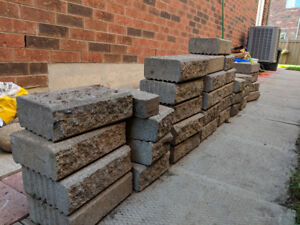 Stone for small retaining wall or flower pot