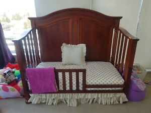 Solid Wood Covertible Crib and Change Table