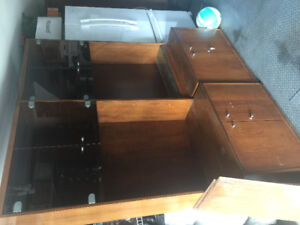 WALL UNIT BIBLIOTHÈQUE BOOKCASE SOLID WOOD  LARGE GREAT DEAL