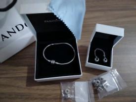 Pandora bracelet and accessories