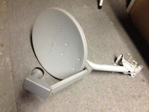 Standard Bell Dish and LNBF for home, camping trailer or cottage