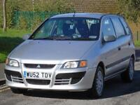 MITSUBISH SPACE STAR 1.6 2002 MIRGA,2 OWNERS,ONLY 52 K,FULL MOT,FULL SERVICE