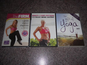 3 fitness / health / yoga DVDs for $5 - new items added
