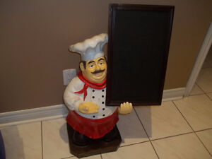 REDUCED TO SELL IS THIS CHEF HOLDING CHALK BOARD(CASH)