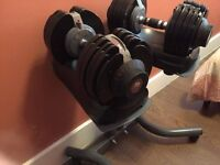 Used twice set of Bodymax Dumbells for sale with free bench!Retail at 660!