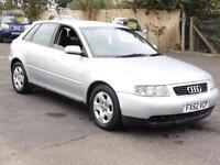 Audi A3 1.9TDI 2002 SE, Silver Hatchback, FSH, 1 Years Mot, 5 Doors