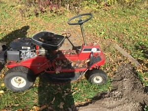 Old riding lawn mower