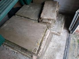 Stone tiles paving